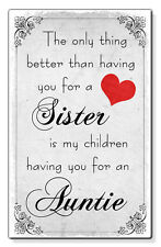 Sister Auntie The Only Thing Small Plastic Fridge Magnet