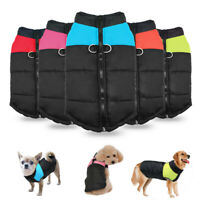 Winter Dog Clothes Warm Dogs Coat Outdoor Walking Waterproof Jacket Vest Soft