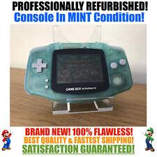*NEW GLASS SCREEN* Nintendo Game Boy Advance GBA Glow in Dark Green System MINT