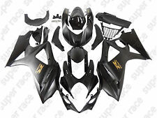 Black Gold Sticker Fairing Bodywork Injection Kit For 07-2008 Suzuki GSXR1000 K7
