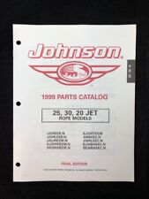 1999 JOHNSON PARTS CATALOG LIST 25 30 20 HP JET ROPE 5000133 OUTBOARD MANUAL