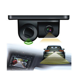 2in1 Car Parking Reversing Sensor Radar Rear View Backup Night Vision Camera