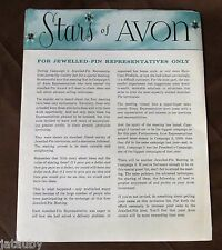 1961 STARS OF AVON Catalog Jewlled Pin Representatives Awards Inserts