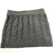 Girls Skirt Large Cable Knit Sweater Gray Holiday Energie Acrylic Winter Holiday