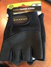 Gold's Gym M/L Classic Training Gloves Black Hiking Biking Lifting Ropes