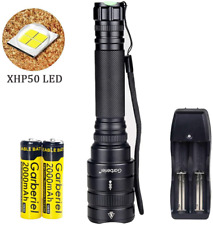 Super Bright 4000 Lumens Led Flashlight Zoomable Rechargeable Xhp50 Flash Light