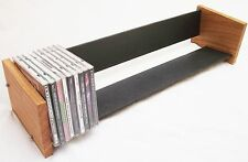Oak Slate Design Long CD Rack - Modern Contemporary Style