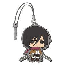 Attack on Titan Mikasa Rubber Phone Plug Strap Licensed NEW
