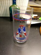 New England Patriots vintage drinking glass promo item for Mobil Old Logo