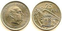 Spain-Estado Español - 25 Pesetas 1957*70. Madrid. SC/UNC Niquel 8,5 g.