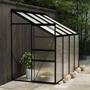 vidaXL Greenhouse Anthracite Aluminium Garden Shed Plant House Conservatory