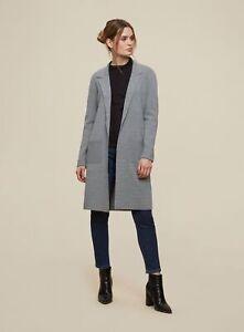 Dorothy Perkins Womens Grey Long Sleeve Coatigan Cardigan Knitwear Top Outwear