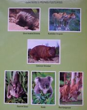 6 x Australian Worldwide Prepaid Postcards Animals Folder! Over $22 Value!