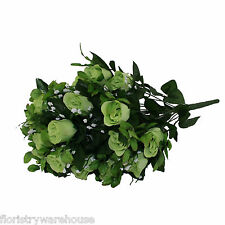 Artificial silk Lime Green Rose & Gyp flower bouquet 55cm 24 stems of Roses