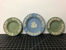 Wedgewood Ashtrays Made In England Blue Green X3