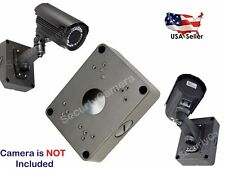 "Black/Gray 5.3"" CCTV Security Camera Mounting Deep Base Junction Outlet Box"