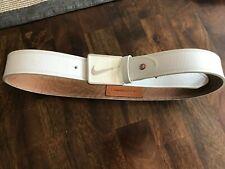 New Nike golf Sleek Modern Plaque Leather Golf Belt - White - 36