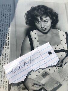 VINTAGE 1950s MEG MYLES PRESS PHOTO PINUP GIRL RARE