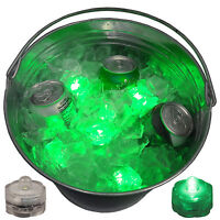 Super Bowl Party Beer Ice Bucket Lights Submersible LED Bright Festive 12 Green
