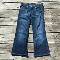 """7 For All Mankind 30 x 26"""" Dojo Jeans Size 28 Women Easy Boot Thick Stitch"""