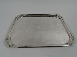 Georgian Salver - Antique Rectangular Tray - English Sterling Silver - 18 C