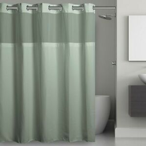 "Hookless Waffle Fabric Shower Curtain - Jade - Size: 71""x74"""
