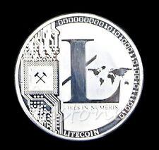 Litecoin Münze 1 UNZE Rein. 999 Versilbert 25 LTC Vires in Numeris Medaillon
