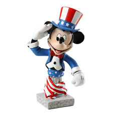 New GRAND JESTER STUDIOS Figurine MICKEY MOUSE Bust Statue DISNEY PASTRIOTIC USA