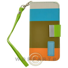 Apple iPhone 5S/SE Wallet Pouch - Multi-Color Olive Green Cover Shell Protector