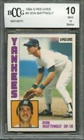 1984 o-pee-chee #8 DON MATTINGLY new york yankees rookie card BGS BCCG 10