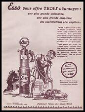 PUBLICITE  ESSO  POMPE A ESSENCE  STATION SERVICE MOTOR OIL   CAR  AD  1929 -1H