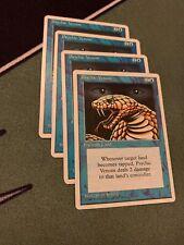 4x Psychic Venom-4x Prodigal Sorcerer NM- Mtg- 4th Edition