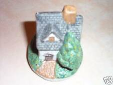VINTAGE COTTAGE WITH CHRISTMAS TREE HAND PAINTED, ADORABLE