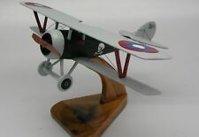 Nieuport 27 French Airplane Wood Model Free Ship New