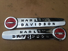 """Harley 1947-1950 Fuel Tank Emblems SET with """"Complete"""" MOUNTING KIT & Screws"""