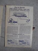 Vintage Lionel Instruction Sheet - 6019 Remote Control Track