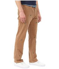 Vineyard Vines Slim Fit Breaker Corduroy pants brown duck embroidered 28 x 32