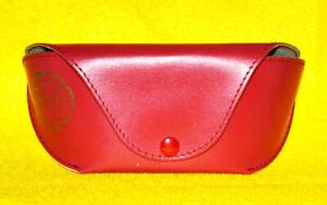 Red Ray-Ban Eyeglasses Case Sunglasses Holder Storage Luxottica Semi Hard Large