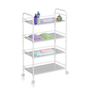 4 SHELF LARGE BEAUTY SALON CART STORAGE TROLLEY DENTIST WAX TATTOO TREATMENT