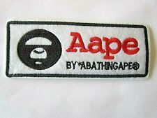 Bathing Ape Aape Milo Monkey Animal Black White Iron On Patch Applique Sewing