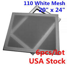 Free Ship!  20x24 inch Aluminum Screen with 110 White Mesh ( 6 pcs package)