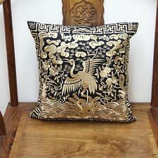 BRAND NEW CHINESE handmade classical SILK Embroider CRANE Cushion Cover