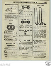 1919 PAPER AD Rev-O-Noc Rock Elm Hockey Sticks Maple Indian Clubs Polo Ash Wood