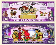Les  FLINTSTONES . Million Dollar USA . Billet de commémoration / Collection