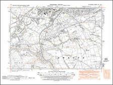 Bridgend south, Ewenny, Corntown, old map Glamorgan 1948: 40SE-NW repro Wales
