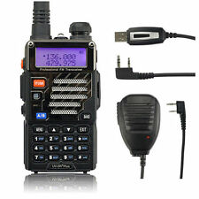 Baofeng UV-5R Plus 136-174/400-520MHz Two-way FM Ham Radio + USB Cable + Speaker