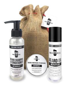 4 in 1 Bartpflegeset von BarFex - Made in Germany | Hochwertiges Männer Geschenk