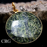 Gold Plated Faceted Round Serpentine Pendant (FC57DG)