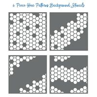 Honeycomb Background Layering Plastic Stencils Scrapbooking Writing Painting