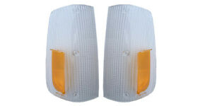 VOLVO 240 260 1975-1985  FRONT TURN SIGNAL LAMP LIGHT LENS pair
